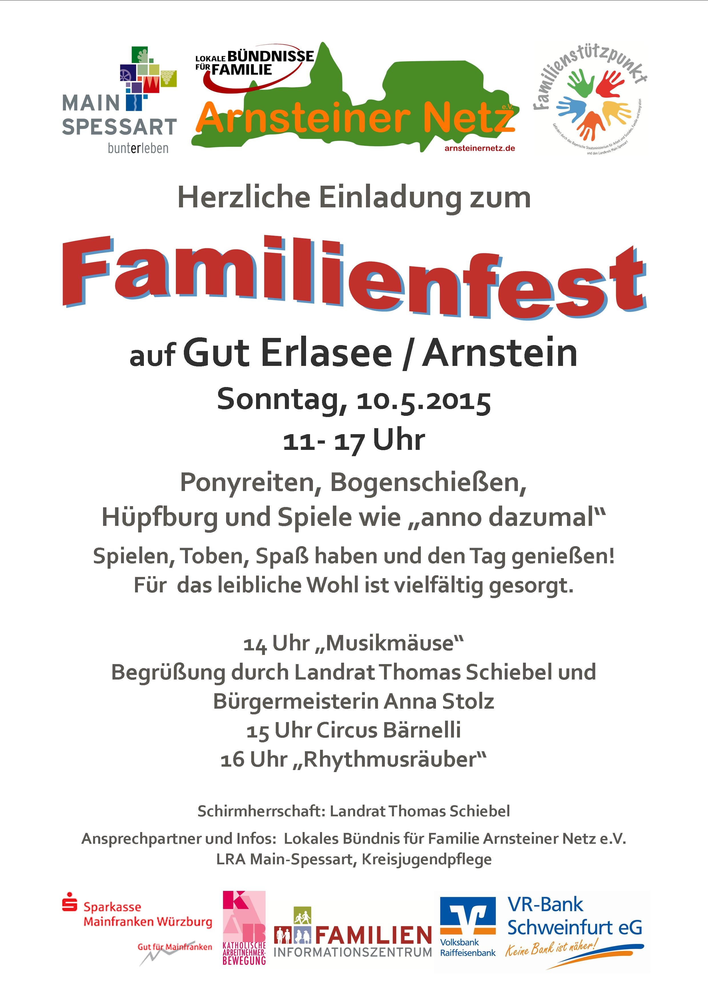 Flyer Familienfest 2015