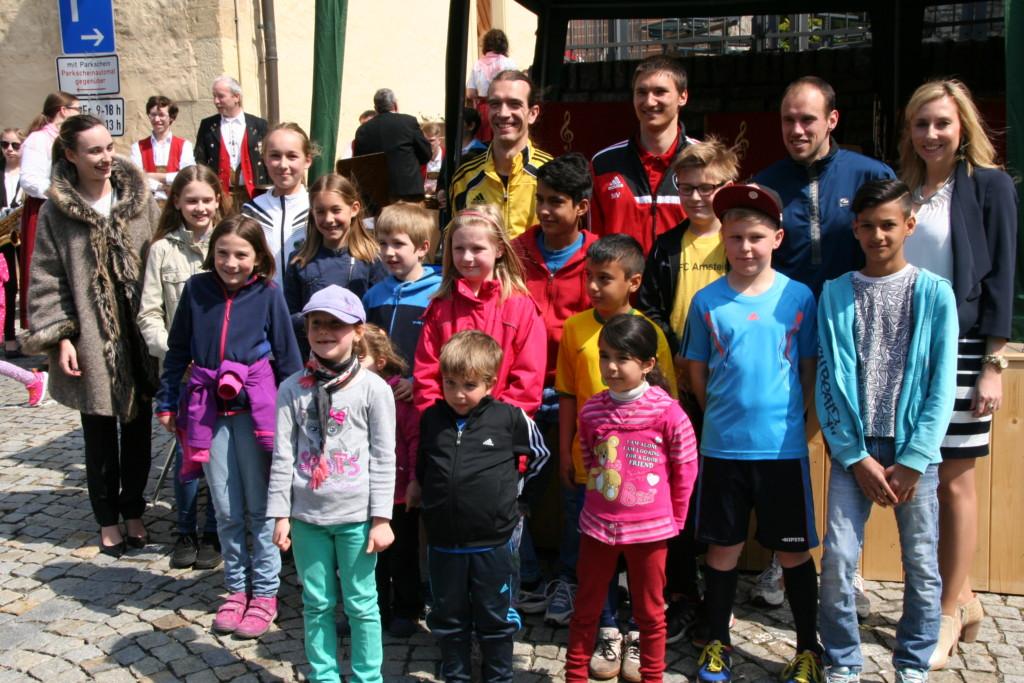 Die Sieger beim Stadtlauf 2016 Arnstein