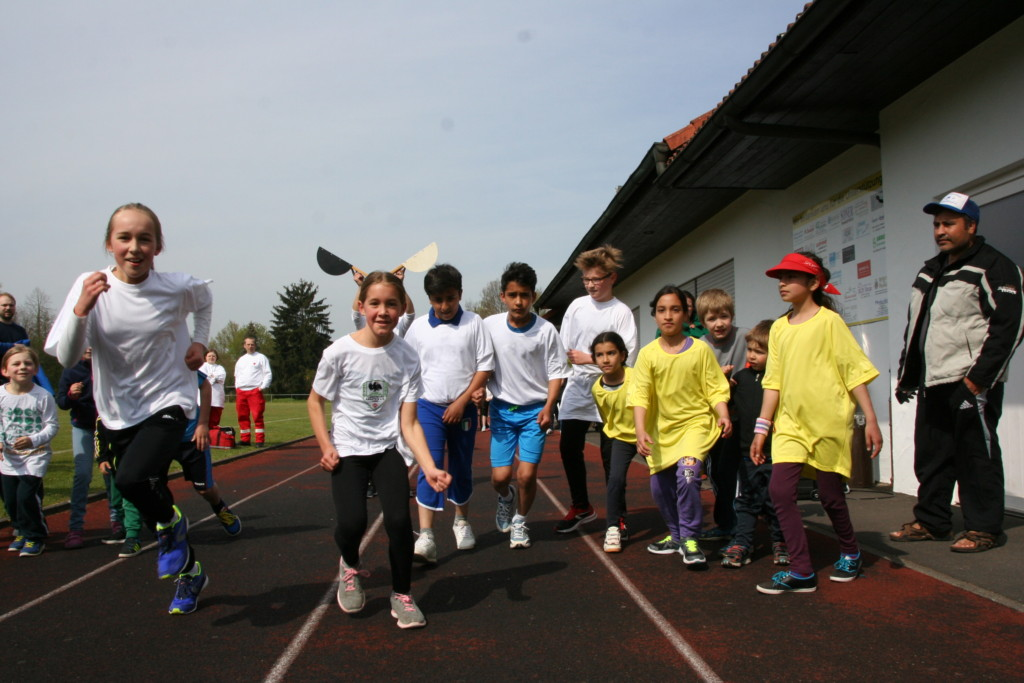 "Start ""Bambini"" beim Stadtlauf 2016 in Arnstein"